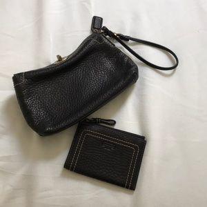 EUC Coach wristlet and wallet set